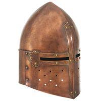 vidaXL Capacete de cavaleiro medieval réplica LARP aço cobre