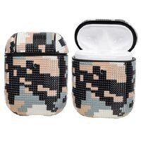 Capa Airpods - Camuflagem De Padrão De Pixel