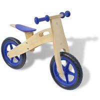 vidaXL Bicicleta de equilíbrio em madeira azul