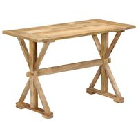 vidaXL Mesa de jantar 140x70x76 cm madeira de mangueira maciça