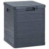 vidaXL Caixa de arrumação para jardim 90 L antracite