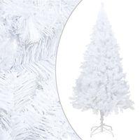 vidaXL Árvore de Natal artificial com ramos grossos 210 cm PVC branco