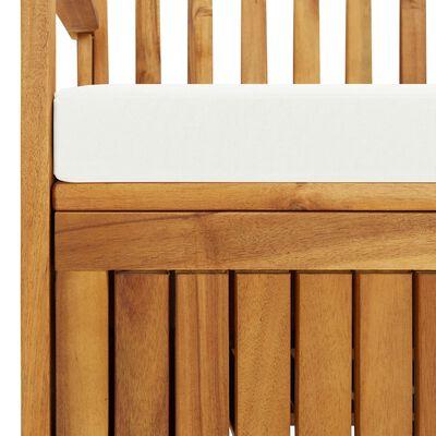 vidaXL Banco armazenamento p/ jardim madeira acácia XL 120x63x84 cm