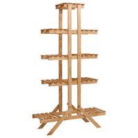 vidaXL Suporte para plantas 83x25x142 cm madeira de abeto