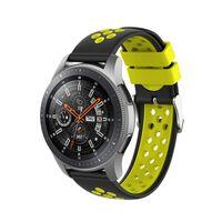 Pulseira de silicone Samsung Gear S3 Frontier / Classic Black / Yellow