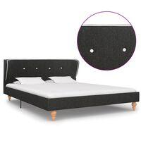 vidaXL Estrutura de cama 140x200 cm serapilheira cinzento-escuro
