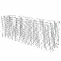 vidaXL Canteiro elevado/cesto gabião 270x50x100 cm aço galvanizado