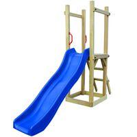 vidaXL Casa c/ escorrega e escada 237x60x175 cm pinho