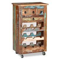 vidaXL Garrafeira para 9 garrafas madeira reciclada maciça