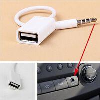 3,5 mm para adaptador de áudio USB para carro