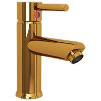 vidaXL Torneira para lavatório de casa de banho 130x176 mm dourado
