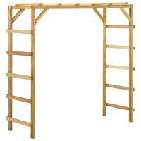 vidaXL Espaldar de exterior 170x60x170 cm madeira de pinho maciça