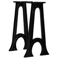 vidaXL Pernas p/ banco 2 pcs estrutura em A arqueada ferro fundido
