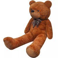 vidaXL Urso de peluche XXL 135 cm castanho