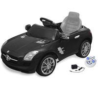 Carro eléctrico Mercedes Benz SLS AMG preto 6V com controlo remoto