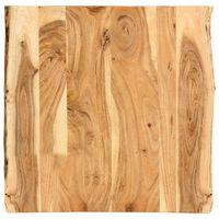 vidaXL Tampo de mesa 60x60x2,5 cm madeira de acácia maciça