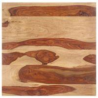 vidaXL Tampo de mesa madeira de sheesham maciça 15-16 mm 70x70 cm