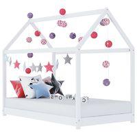 vidaXL Estrutura de cama para crianças 70x140 cm pinho maciço branco