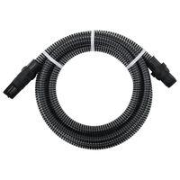 vidaXL Mangueira de sucção com conectores de PVC 4 m 22 mm preto