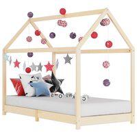 vidaXL Estrutura de cama para crianças 80x160 cm pinho maciço