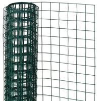 Nature Rede arame quadrada 0,5x5m 13mm aço revestido a plástico verde