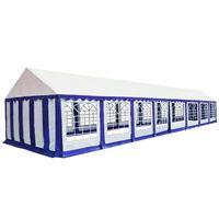 vidaXL Tenda de jardim 6x16 m PVC azul e branco