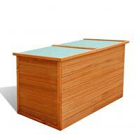 vidaXL Caixa de arrumação para jardim 126x72x72 cm madeira