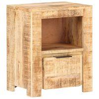 vidaXL Mesa de cabeceira 40x30x50 cm madeira de mangueira áspera