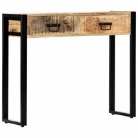 vidaXL Mesa consola 90x30x75 cm madeira de mangueira maciça
