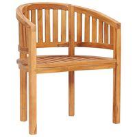 vidaXL Cadeira de costas redondas madeira de teca maciça
