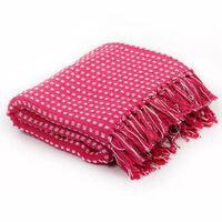 vidaXL Manta em algodão aos quadrados 220x250 cm rosa