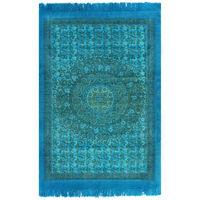 vidaXL Tapete Kilim em algodão 120x180 cm com padrão turquesa