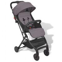 vidaXL Carrinho de bebé cinzento 89x47,5x104 cm