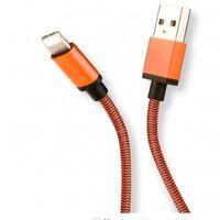 Cabo de carregamento USB-C trançado de 0,9 m - laranja