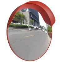 Convex Espelho de trânsito para exterior 60 cm policarbonato laranja