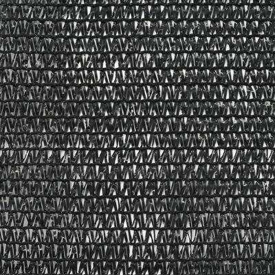 vidaXL Rede de ténis PEAD 1,6x25 m preto
