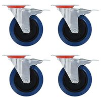 vidaXL 16 pcs rodas giratórias 125 mm