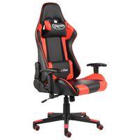 vidaXL Cadeira de gaming giratória PVC vermelho