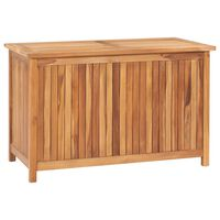 vidaXL Caixa arrumação para jardim 90x50x58 cm madeira de teca maciça