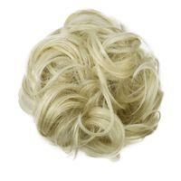 Scrunchie com cabelo sintético - loiro