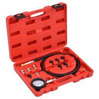 vidaXL Kit de teste medidor de pressão do óleo 12 pcs