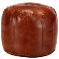 vidaXL Pufe 40x35 cm couro de cabra genuíno bronze