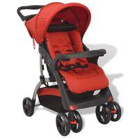 vidaXL Carrinho de bebé vermelho 102x52x100 cm