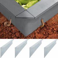 vidaXL Placas anti-caracóis 4 pcs aço galvanizado 150x7x25 cm 0,7 mm