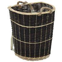 vidaXL Mochila para lenha com alças 57x51x69 cm salgueiro natural