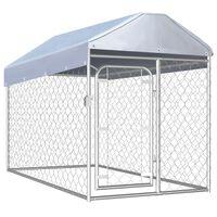vidaXL Canil de exterior com telhado 200x100x125 cm
