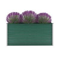 vidaXL Canteiro elevado de jardim aço galvanizado 160x40x77 cm verde
