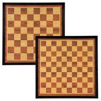 Abbey Game Tabuleiro de xadrez/damas 41x41cm madeira castanho e bege