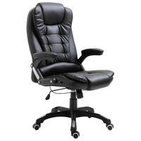 vidaXL Cadeira de escritório em couro artificial preto