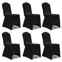 Capa elástica para cadeira / 6 peças, Preta